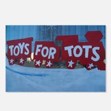 Toys For Tots Train. Postcards (Package of 8)