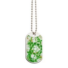 Green industrial abstract Dog Tags