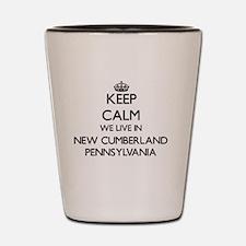 Keep calm we live in New Cumberland Pen Shot Glass