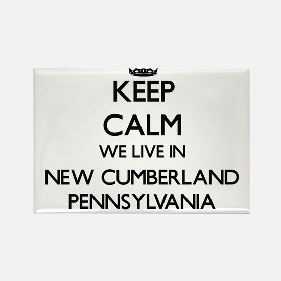 Keep calm we live in New Cumberland Pennsy Magnets