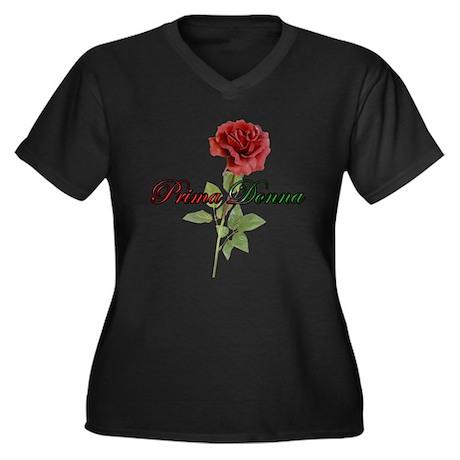 Prima Donna Women's Plus Size V-Neck Dark T-Shirt