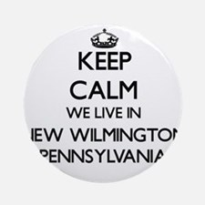 Keep calm we live in New Wilmingt Ornament (Round)