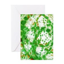 Green industrial abstract Greeting Cards