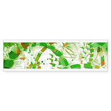 Green industrial abstract Bumper Bumper Sticker