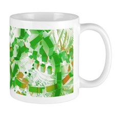 Green industrial abstract Mugs