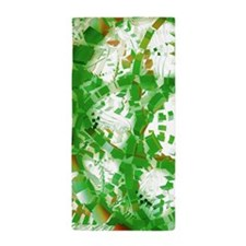 Green industrial abstract Beach Towel