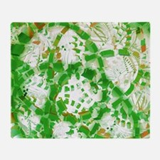 Green industrial abstract Throw Blanket
