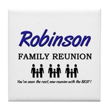 Robinson Family Reunion Tile Coaster