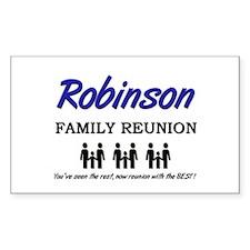 Robinson Family Reunion Rectangle Decal