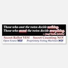 Open Vote! Bumper Bumper Bumper Sticker