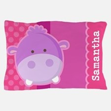 Personalized Hippo Kids Pillow Case