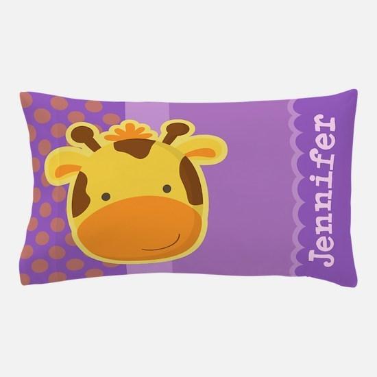 Personalized Giraffe Kids Pillow Case