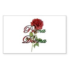 Prima Donna Rectangle Decal