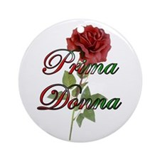 Prima Donna Ornament (Round)