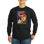 Mandolin Angel & Papillon Long Sleeve Dark T-Shirt