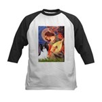Mandolin Angel & Papillon Kids Baseball Jersey