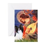 Mandolin Angel & Papillon Greeting Cards (Pk of 10