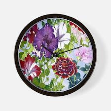 Dazzlin' Petunia Power Wall Clock