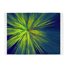 Yellow splash 5'x7'Area Rug