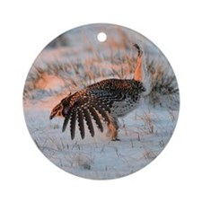 Sharptail Grouse Ornament (Round)