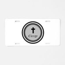 CLERGY Aluminum License Plate