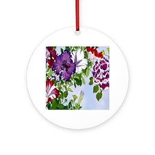Dazzlin' Petunia Power Ornament (Round)