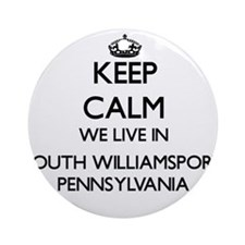 Keep calm we live in South Willia Ornament (Round)