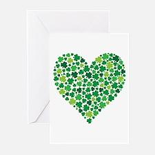 Irish Shamrock Heart - Greeting Cards