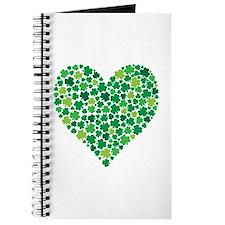 Irish Shamrock Heart - Journal