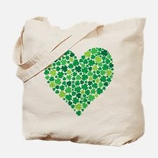 Irish Shamrock Heart - Tote Bag