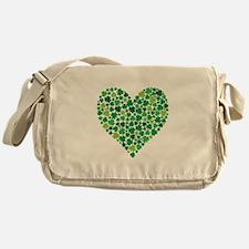 Irish Shamrock Heart - Messenger Bag