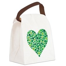 Irish Shamrock Heart - Canvas Lunch Bag