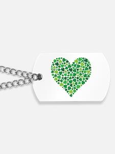 Irish Shamrock Heart - Dog Tags