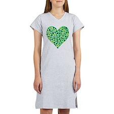 Irish Shamrock Heart - Women's Nightshirt
