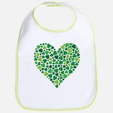 Irish Shamrock Heart - Bib