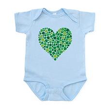 Irish Shamrock Heart - Infant Body Suit