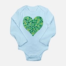 Irish Shamrock Heart - Infant Body Suit