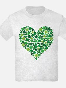 Irish Shamrock Heart - T-Shirt