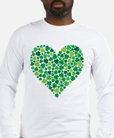 Irish Shamrock Heart - Men's T Long Sleeve T-S