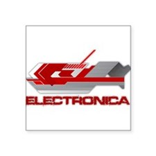"Cool Electronica Square Sticker 3"" x 3"""