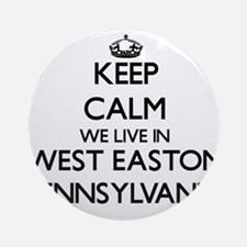Keep calm we live in West Easton Ornament (Round)