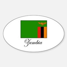 Zambia - Flag Oval Decal