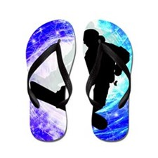 Snowboarder in Whiteout.png Flip Flops