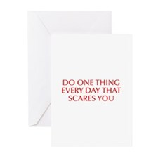 Do one thing every day that scares you-Opt red Gre