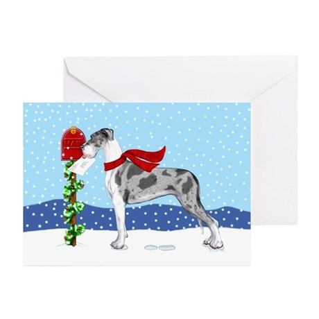 Great Dane MerleB UC Mail Greeting Cards (Pk of 10