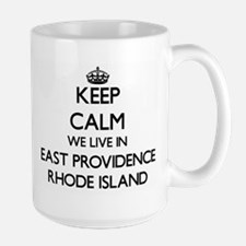 Keep calm we live in East Providence Rhode Is Mugs