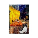 Cafe & Papillon Rectangle Magnet (10 pack)