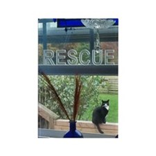 RESCUE CAT Rectangle Magnet