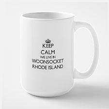 Keep calm we live in Woonsocket Rhode Island Mugs