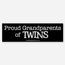 Grandparents of twins - Bumper Bumper Bumper Sticker